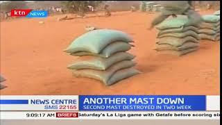 Suspected Alshabaab militants destroy a Safaricom communication mast in Garissa county