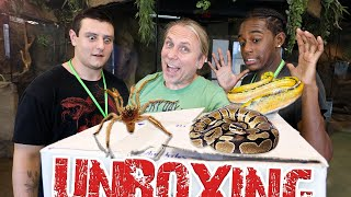 EXTREME SNAKE UNBOXING CHALLENGE!! | BRIAN BARCZYK