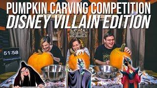 Pumpkin Carving Competition || DISNEY VILLAIN EDITION