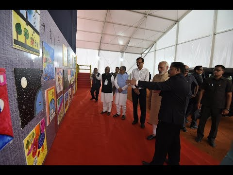 PM Modi laid Foundation Stone of Barrage over Narmada river, flag off Antyodaya Express
