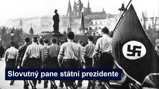 Zdeněk Štěpánek čte rezoluci po atentátu na Heydricha