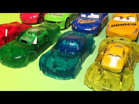 Lightning mcqueen  cruz ramirez and chick hicks disney pixar cars 3 racers mini racers learn colors
