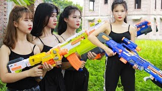 XGirl Nerf War: Top 10 Episodes Warriors X Girl Team ! SEAL US Nerf Guns Criminal Group Compilation