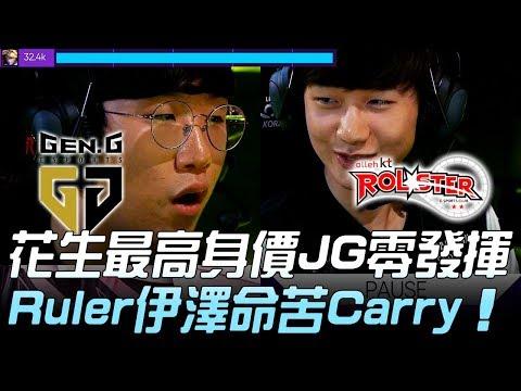 GEN vs KT Peanut最高身價JG零發揮 Ruler伊澤命苦Carry!Game 1