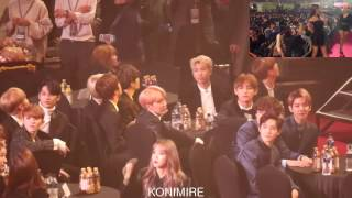 Gambar cover 170119 EXO & BTS reaction to MAMAMOO You're The Best + Décalcomanie @ Seoul Music Awards