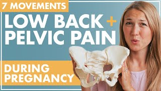 Movements to Relieve PELVIC and BACK PAIN During Pregnancy | How to Align Pelvis During Pregnancy