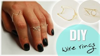 DIY Wire Midi Rings | Cat & XO Ring | WIRE RING TUTORIAL