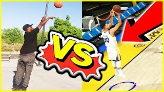 Can We Make More 3pt Shots Than Virtual Steph Curry? - IRL 3pt Contest Challenge
