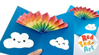 Easy Rainbow Pop Up Card - Learn How To Make Easy 3d Cards For Kids - 3d Rainbow