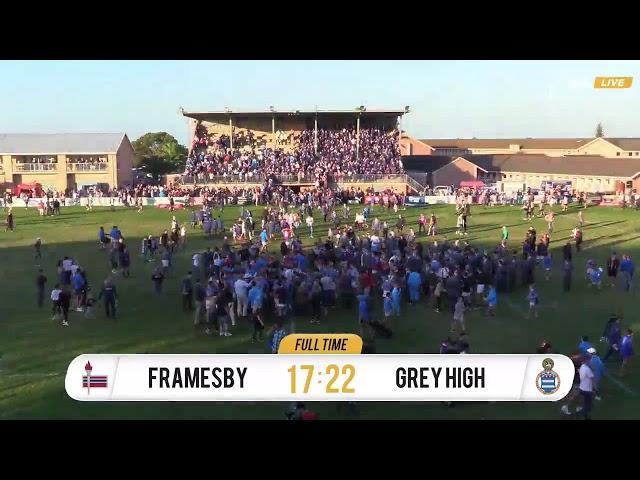 Schools Rugby - Hoërskool Framesby XV vs Grey High XV