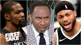Stephen A. reageer op Bruce Brown se 'godslasterlike' spel in Nets vs. Bucks Game 3 | Neem eers