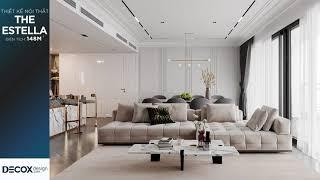 Mẫu thiết kế căn hộ The Estella 148m2 phong cách Bán cổ điển