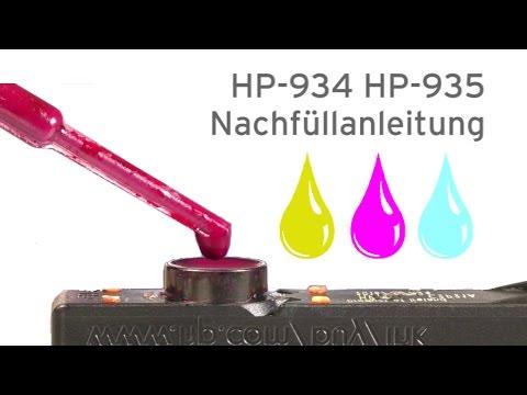 HP-934, HP-935 Patronen nachfüllen HP Officejet Pro 6320, Pro 6820, Pro 6830