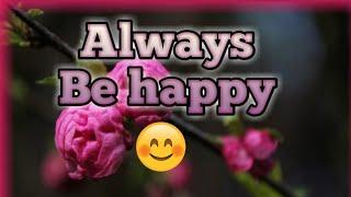 Always be happy status| New WhatsApp status and quotes |Happiness | happy status |cute status