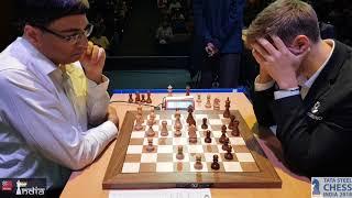 Vishy Anand vs Sergey Karjakin   Tata Steel Chess India Blitz 2018