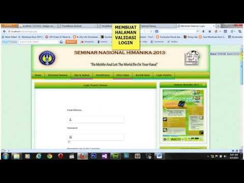 Video Cara Membuat Halaman Website Register, Login dan Logout ( Dreamwever)