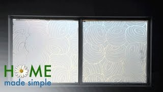 Create A Custom Window Treatment With Fabric And Cornstarch | Home Made Simple | OWN
