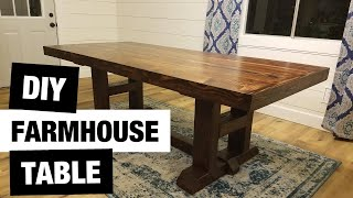 DIY Farmhouse Table | Under $200 | How To Make A Dining Table