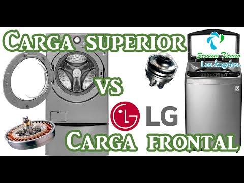 Lavadora Carga superior vs carga frontal de la marca LG
