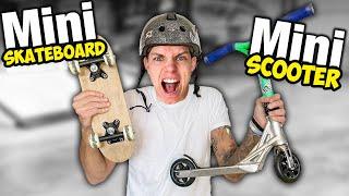 Mini Scooter VS Mini Skateboard im Skatepark!