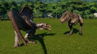 Tyrannosaurus Rex VS Spinosaurus Update 1.4 - Jurassic World Evolution