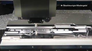 Nutzenfertigung Einer Rahmen-Komponente Aus Aluminium Für Den Flugzeugbau.