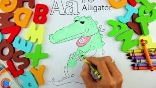 Letter A Coloring Pages - Alphabet Coloring Book - Youtube