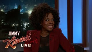 Jimmy Kimmel Live (25.09.18) - Viola Davis Dragged a Meeting Out for Free Sushi