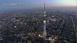 東京スカイツリー夜景空撮映像TOKYOSKYTREENIGHTVIEWAERIAL