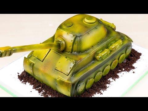 Как сделать 3д торт в виде танка