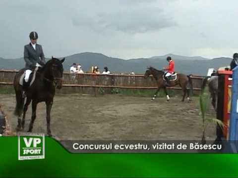 Concursul ecvestru, vizitat de Băsescu