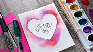 DIY Easy Valentine's Day Card (Minimal supplies required)