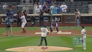 Vladimir Guerrero Hits 50 Cent's Wild First Pitch