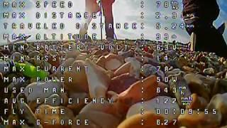 Under 250g Long Range FPV Plane V5, Second Flight 2km Beside beach