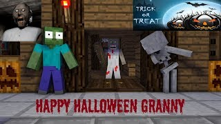Monster School : GRANNY HALLOWEEN CHALLENGE - Minecraft Animation
