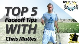 5 Faceoff Tips with Chris Mattes