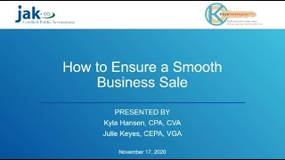 How to Ensure a Smooth Business Sale