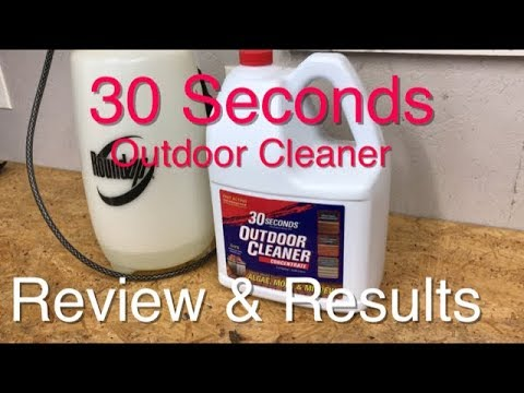 30 Seconds Outdoor Cleaner – Test – Review – Results – SIMPLE EASY and NO SCRUBBING NEEDED