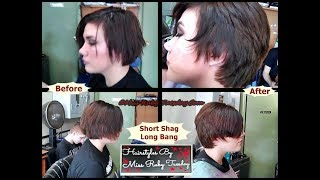 Hairstyles By Miss Ruby Tuesday- Short Shag With Long Bang