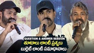 RRR Movie Question & Answer Session   SS Rajamouli   Jr NTR   Ram Charan   Filmylooks
