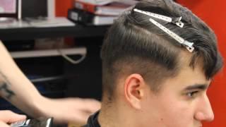 Часть мужской стрижки-ПОМПАДУР . Обучение для парикмахеров от Узун Виталия, Одесса.