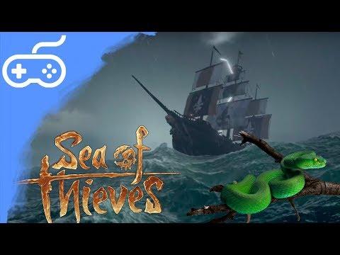 OSAMOCENÝ PIRÁT V BOUŘCE! - Sea of Thieves