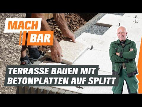 Betonplatten-Terrasse bauen im Splittbett   OBI