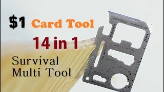 $1 Credit Card Tool 11 In 1 Survival Card Multi Tool