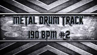 Metalcore/Killswitch Engage Style Metal Drum Track 190 BPM (HQ,HD)