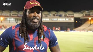 Gayle explains his rebranded 'The Boss' stickers | West Indies v Australia 2021