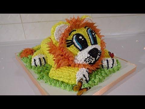 Как сделать торт ребёнку в форме льва