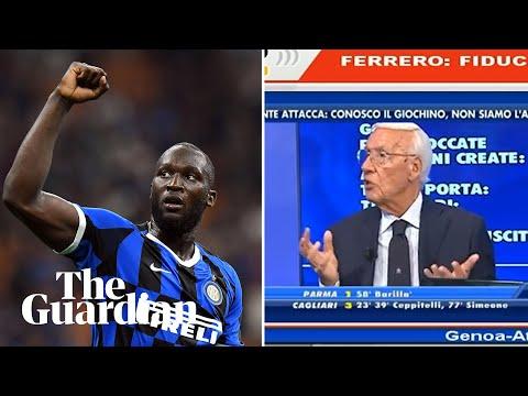 Italian football pundit sacked after racist remarks about Romelu Lukaku