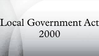 Local Government Act 2000