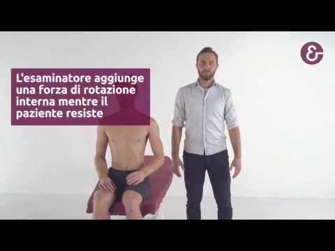 Esercizio di osteoartrite del ginocchio in palestra